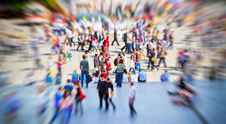 Menschenmenge, Fussgängerzone, Unschärfe, Gesellschaft