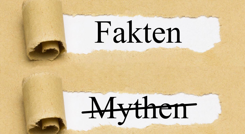 Papier, ausgerissen, Fakten, Mythen durchgestrichen