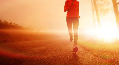 Jogger, Gesundheit, Fitness, Abendstimmung, Asphalt